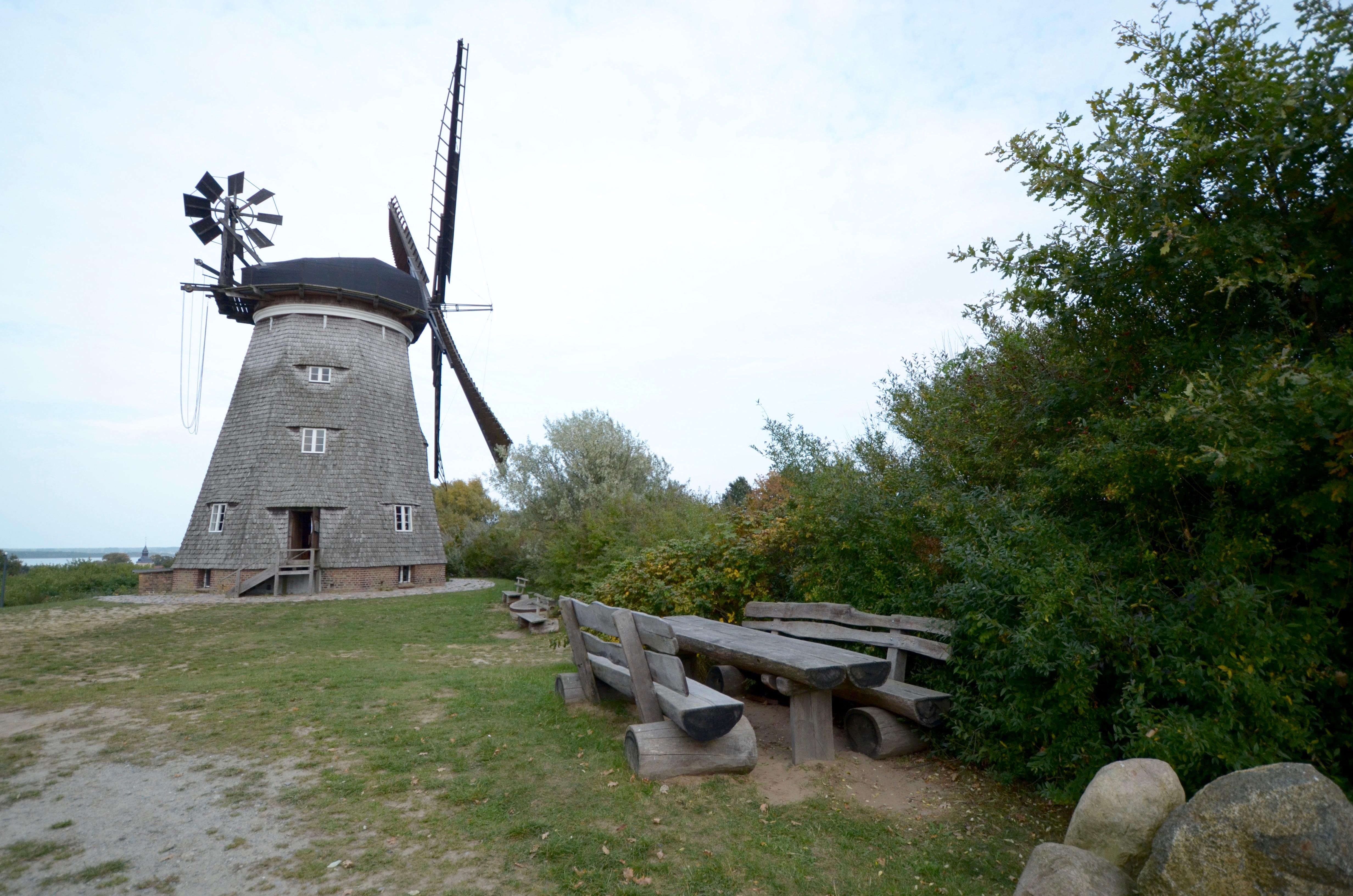 Mühle mit Museum und Café in Benz