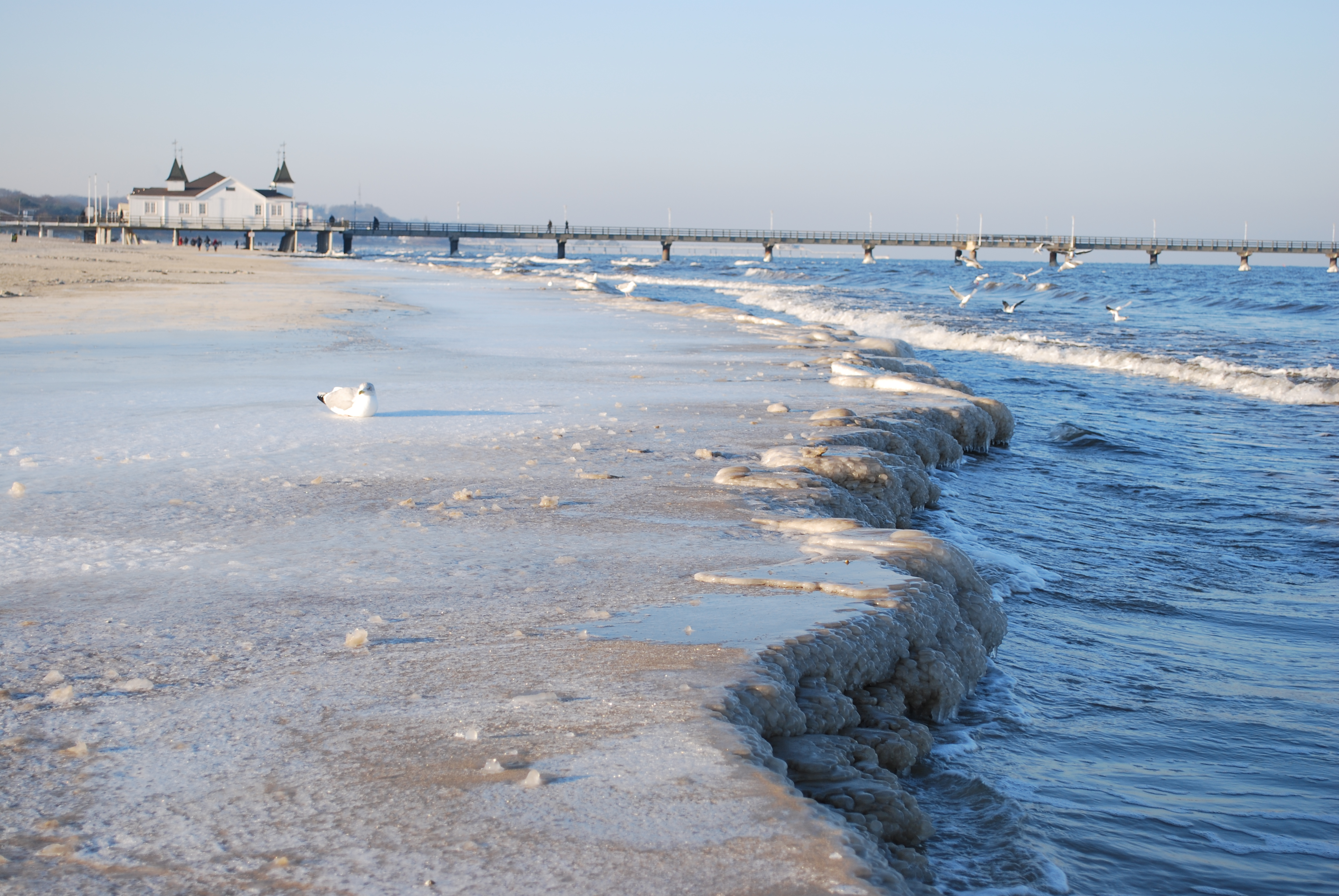Strand im Winterschlaf