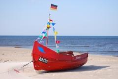 Das Fischerboot an unserem Strand